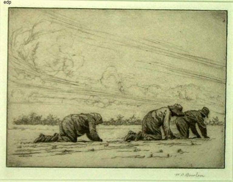 William C. Bowlen Figurative Print - WEEDING