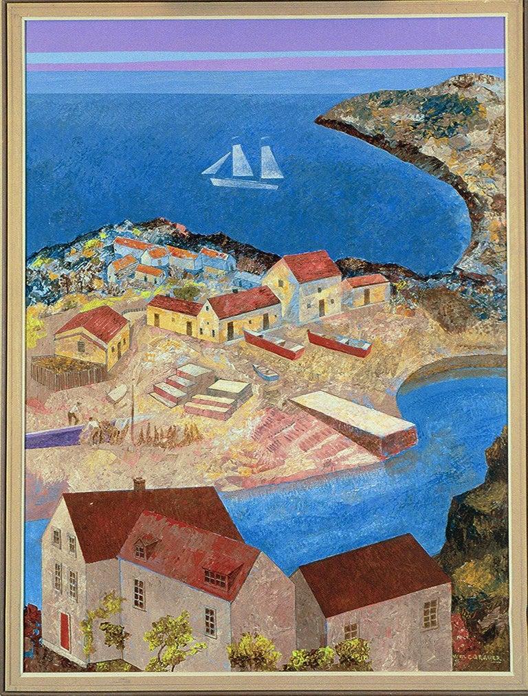 William C. Grauer Landscape Painting - Gaspe Homes