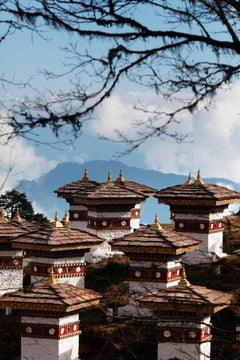 """108 Stupas, Dochula Pass, Bhutan"" (contemporary landscape photography)"