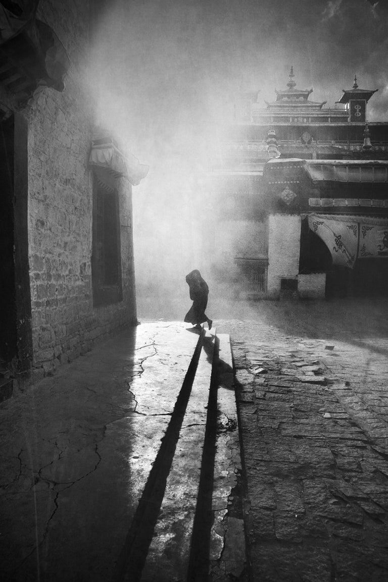 "William Chua Black and White Photograph - Tibet ""Dawn"" - 24x16"" limited edn print"
