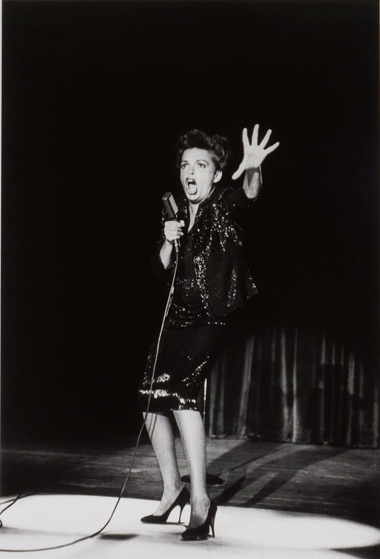 William Claxton Portrait Photograph - Judy Garland, Las Vegas, NV (the iconic singer in her classic concert pose)