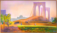 Roebling's Dream, The Great East River Bridge (NYC Cityscape by William Clutz)