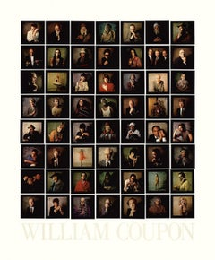 1985 After William Coupon 'Portraits' Photography Black,Multicolor,Gray,Blue