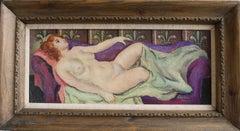 William Crosbie, Reclining nude, Scottish Modernist oil