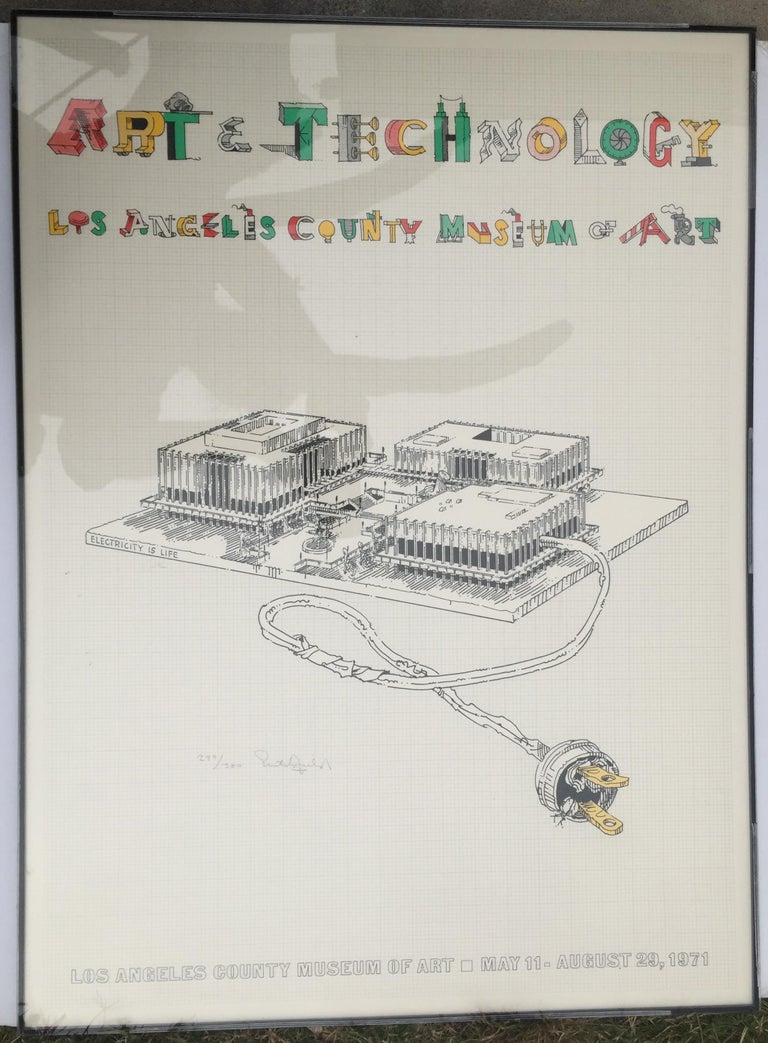 ART & TECHNOLOGY-LOS ANGELES COUNTY MUSEUM OF ART Being demolished as we speak!! - Print by William Crutchfield