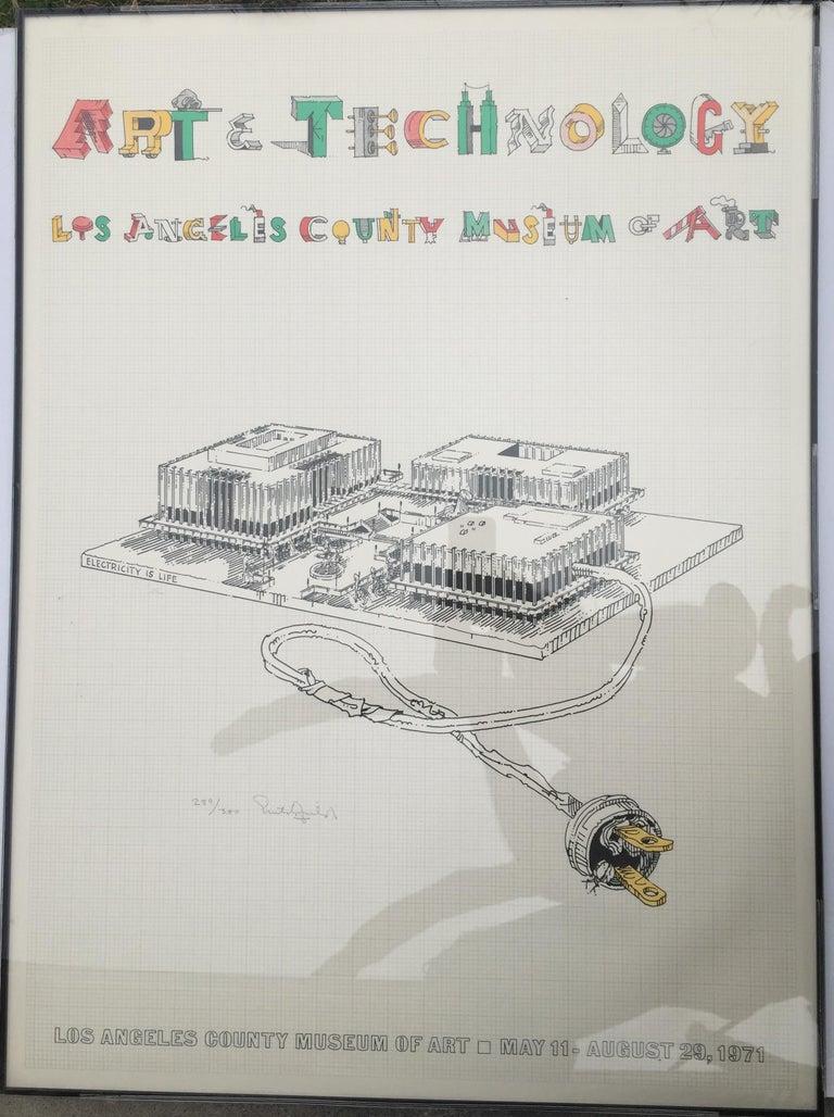 William Crutchfield Print - ART & TECHNOLOGY-LOS ANGELES COUNTY MUSEUM OF ART Being demolished as we speak!!
