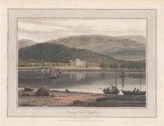 Inveraray Castle, Argyllshire, Scotland. Colour aquatint by William Daniell 1817