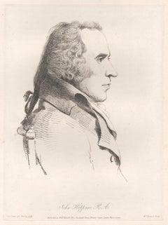 John Hoppner, portrait painter, soft ground etching, 1809