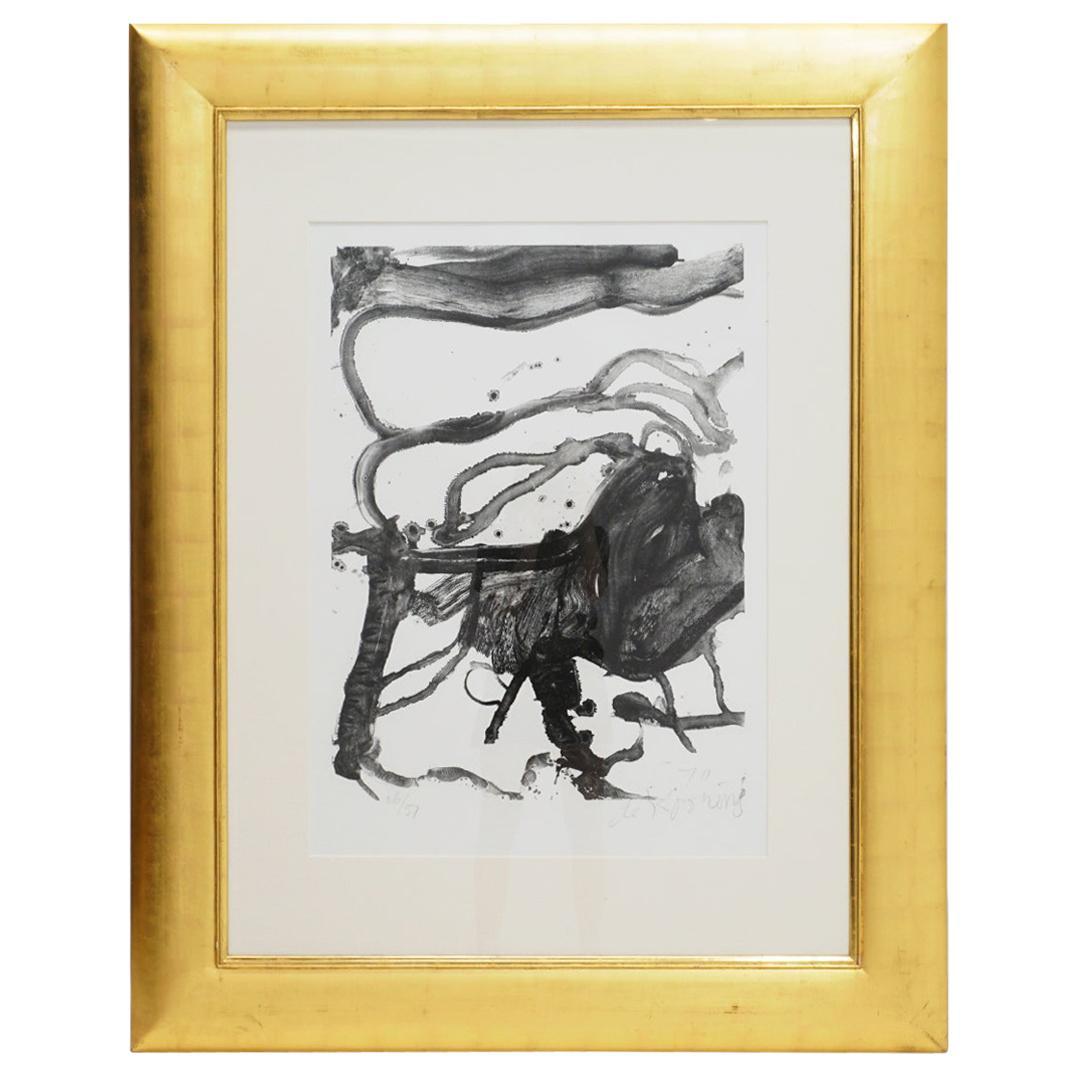 """William De Kooning """"High School Desk"""" Lithograph, Signed, Numbered, Framed, 1970"""