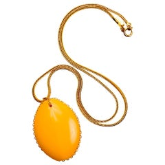 William De Lillo Bakelite Pendant on Snake Chain