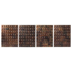 William De Lillo Bronze and Copper Wall Sculptures