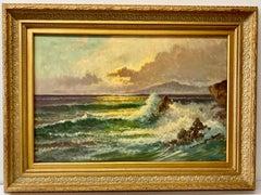 William DeShazo Coastal Landscape Oil Painting C.1970