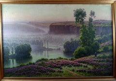 """Bruyéres en fleurs"" 1949, 20th Century oil on canvas by William Didier-Pouget"