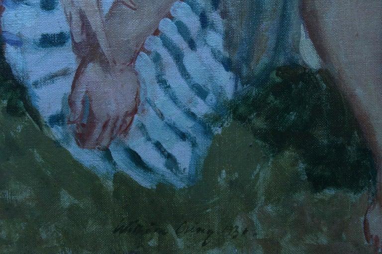 Summer Frolic - British Post Impressionist 30's art nude oil painting Slade Sch 7