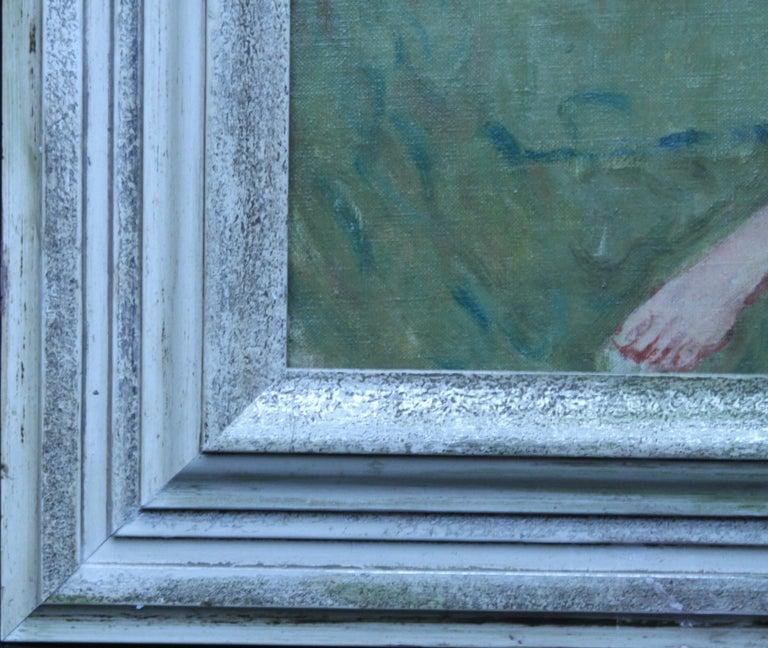 Summer Frolic - British Post Impressionist 30's art nude oil painting Slade Sch 8