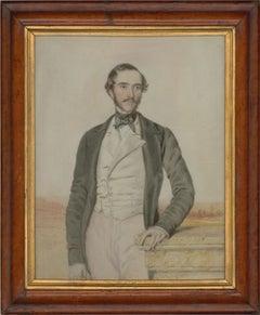 William Drummond (fl. 1800-1850) - c. 1850 Watercolour, Portrait of a Gentleman