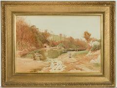William Edward Croxford (1852-1926) - 1906 Watercolour, Rural English Landscape