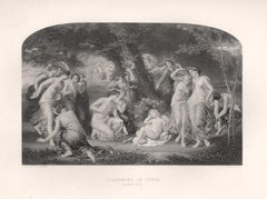 Disarming Of Cupid (Sonnet CLIV), William Shakespeare play engraving