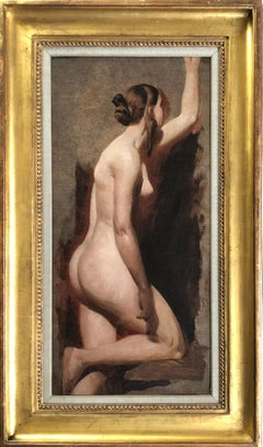19th Century English Portrait of a Female Nude