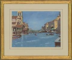William Eyre (1891–1979) - Signed 20th Century Gouache, View of Traviso, Venice