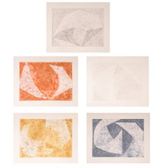 The Tempered Portfolio, Five Abstract Etchings by William Fares