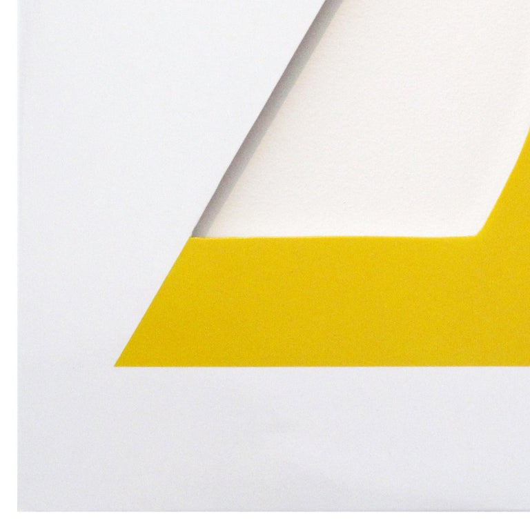Pivot Yellow - Abstract Sculpture by William Fares