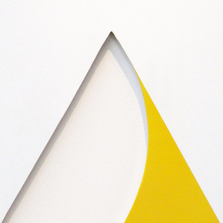Pivot Yellow - Gray Abstract Sculpture by William Fares