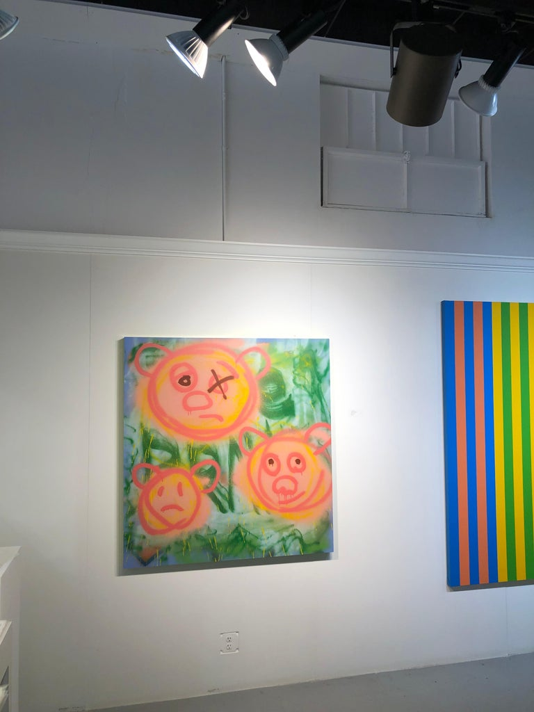 "Acrylic on Panel Titled: ""3 Pig-Bears"" For Sale 4"