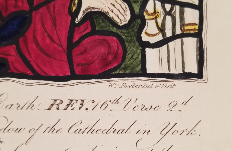 William Fowler Engraving after a York Cathedral Stained Glass Window  For Sale 1