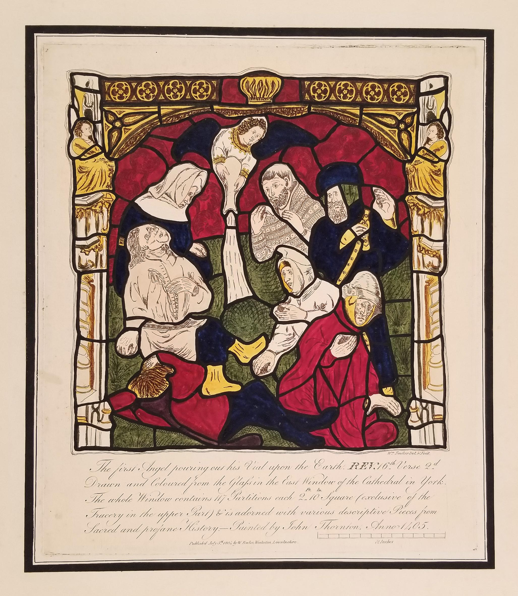 William Fowler Engraving after a York Cathedral Stained Glass Window