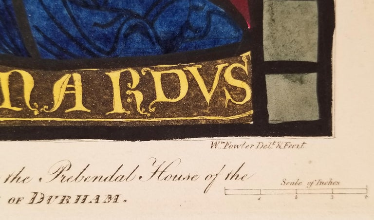 William Fowler Engraving after Stained Glass in the House of Rev. De Zouch For Sale 1