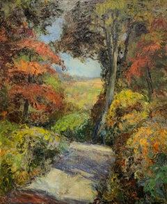 Paxson Farm, Lumberville PA, Impressionist Fall Landscape with Figure