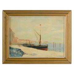 William Fraser 'British, 1856-1921' Harbor Scene