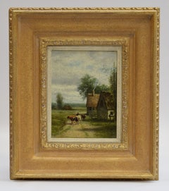 Farmer and cattle - Impressionist Landscape Artist Classical Art Animals Farm