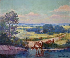 """""""Cattle Ranch""""  Texas Landscape Ranch Scene"""
