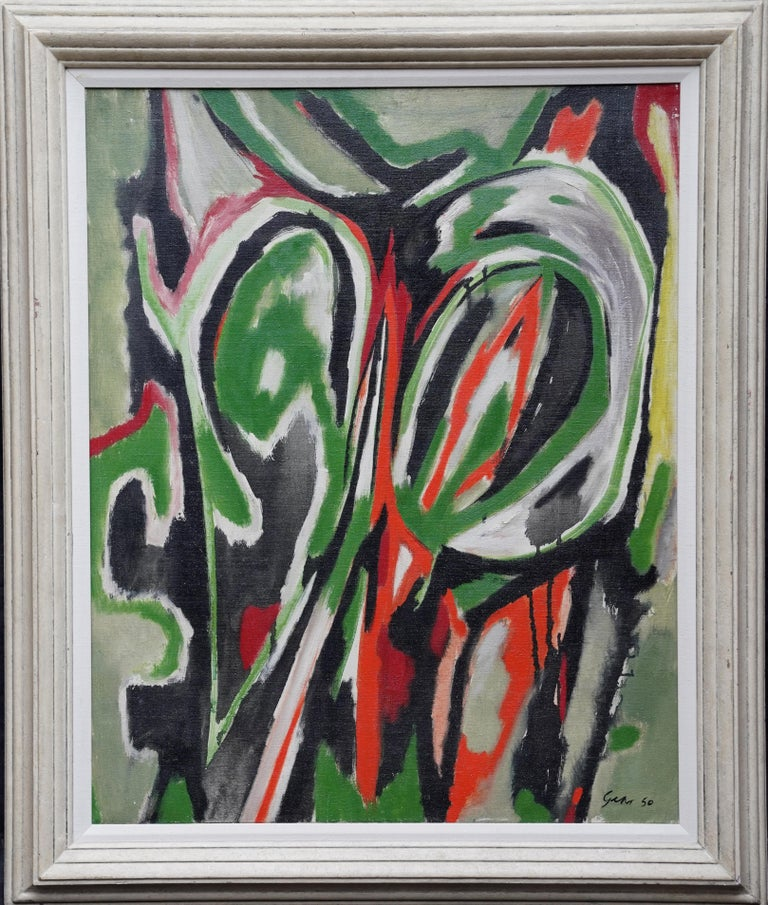 Spring Passage - Scottish art Abstract Expressionist oil painting Cobra Paris  For Sale 9