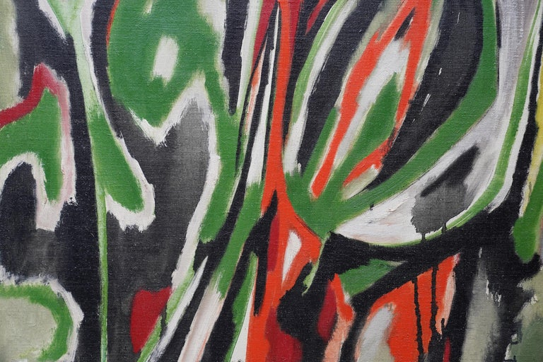 Spring Passage - Scottish art Abstract Expressionist oil painting Cobra Paris  For Sale 1