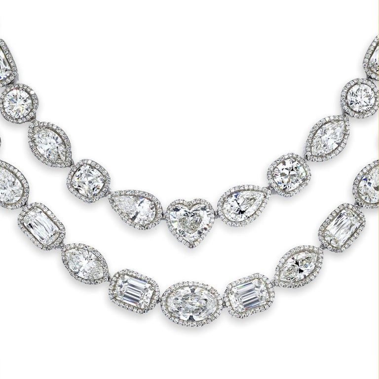 William Goldberg 63 Carat Spectacular Diamond Infinity Necklace For Sale 4