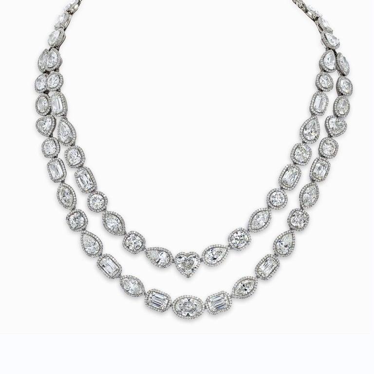 William Goldberg 63 Carat Spectacular Diamond Infinity Necklace For Sale 2