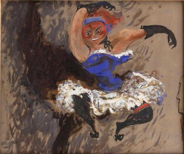"""William Gropper Figurative Painting - """"Cabaret Dancer"""""""