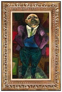 William Gropper Original Painting Oil On Board Signed Portrait Modern Artwork
