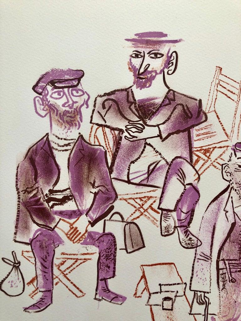 Jewish Shtetl Machers Americana Judaica Lithograph WPA Yiddish Social Realist  - Print by William Gropper