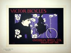 Woman on her Bicycle - Original Lithograph (Les Maîtres de l'Affiche), 1899