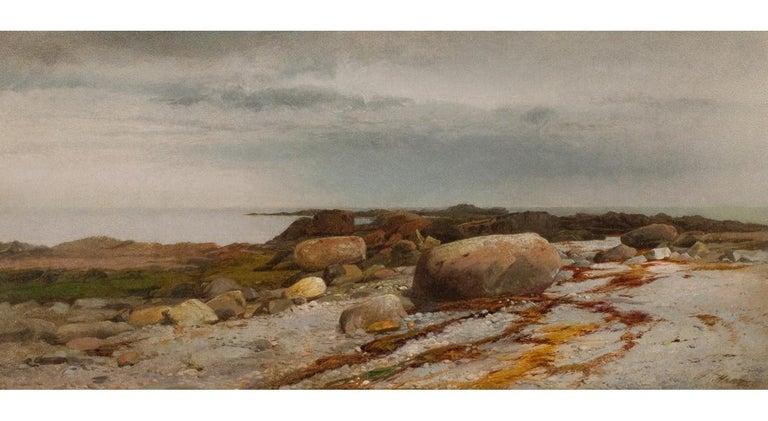 William Hart Landscape Painting - Rocky Seascape
