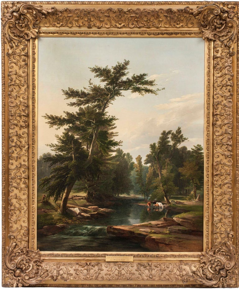 Scene on the Helderberg Mountains, 1849 landscape by William Hart (1823-1894) For Sale 1