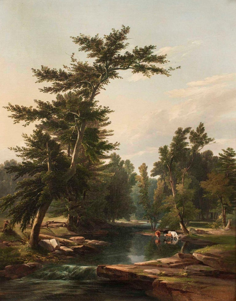 William Hart (1823-1894) Scene on the Helderberg Mountains, 1849 Oil on canvas 36 x 27 7/8 inches Signed and dated 1849, lower right