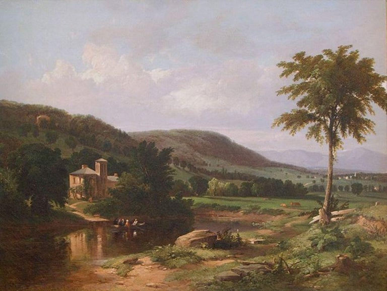 WILLIAM HART (1823‒1894) Summer Idyll in the Hudson Valley, 1849 Oil on canvas 22 x 30 inches Signed and dated 1849, lower right  Provenance: The artist to his 10th Street Studio Building neighbor By descent in the family until 2012 when acquired by
