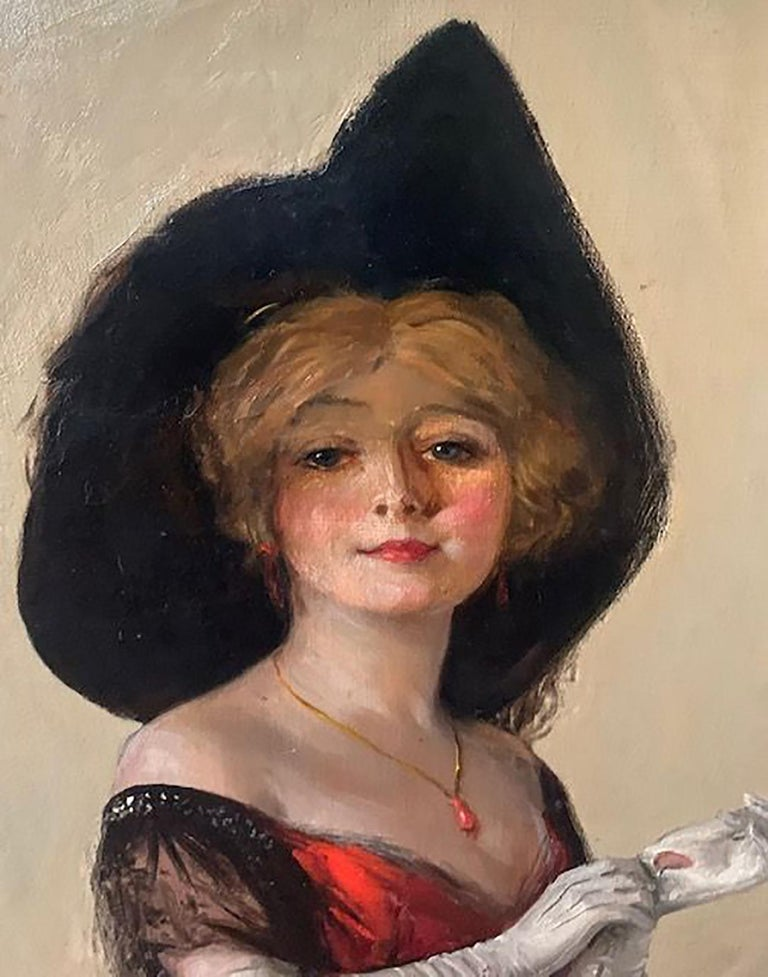 Collier's Magazine Cover - Beige Portrait Painting by William Haskell Coffin