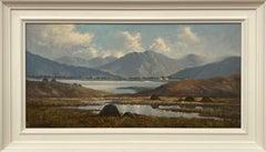 Oil Painting of Mountain Lake Scene in Connemara Ireland by Modern Irish Artist