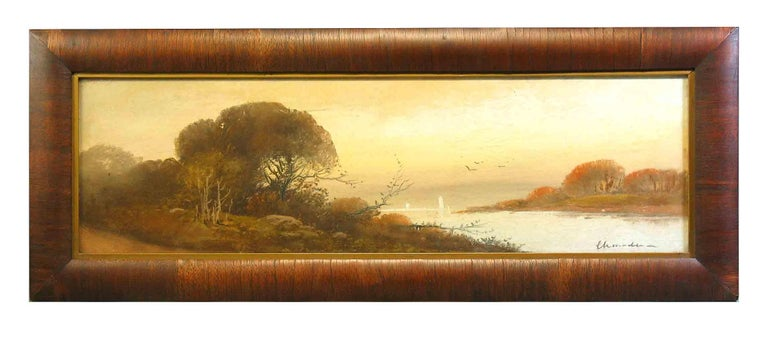 William Henry Chandler Pastel, Lake Scene with Sailboats In Good Condition For Sale In Ottawa, Ontario